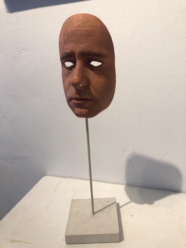 Mask (self portrait) in situ