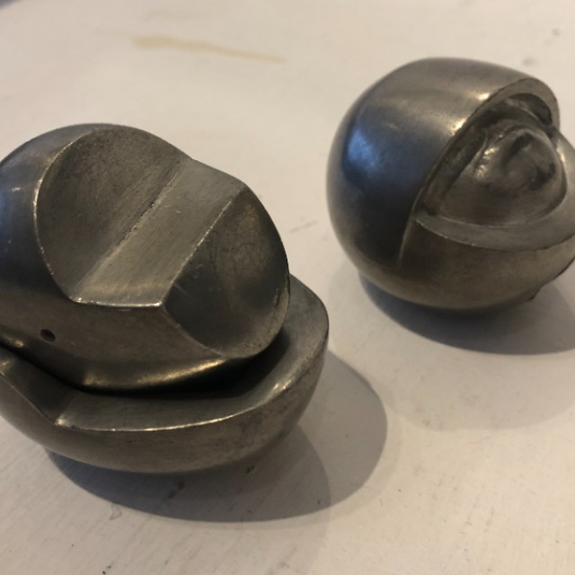 Single Pewter Head x 2