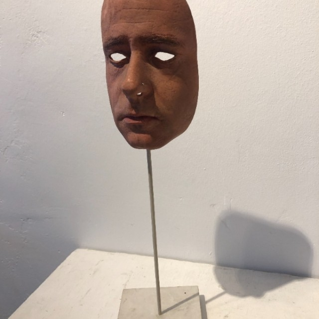 Mask (self portrait) in situ