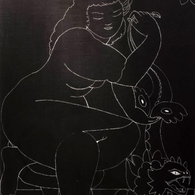 Woman with Lizard ii