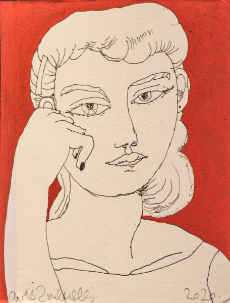 Woman on Red