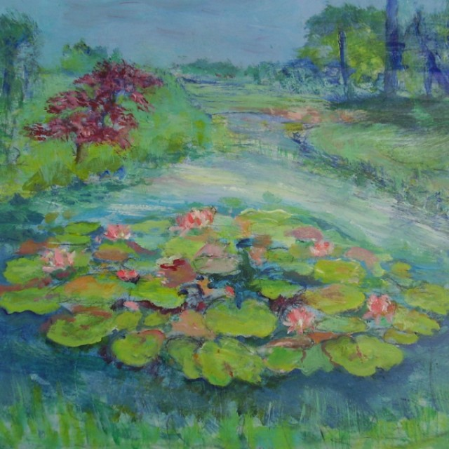 Waterlillies and Acer