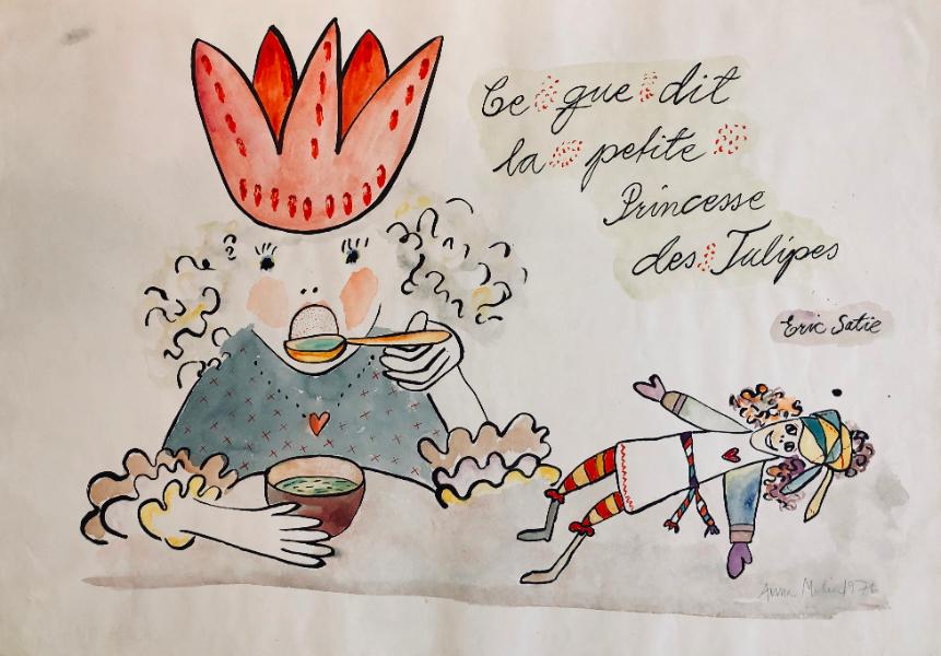 ce gue dit la petit Princess des Tulipes (Eric Satie)