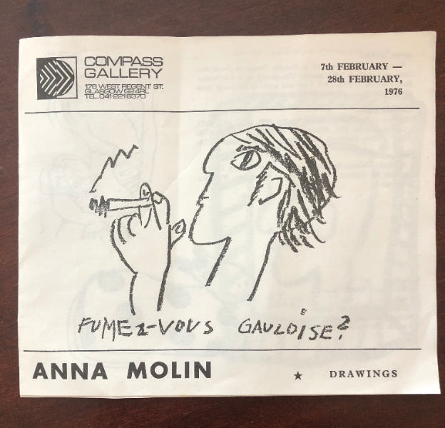 Compass Gallery Anna Molin catalogue from 1976