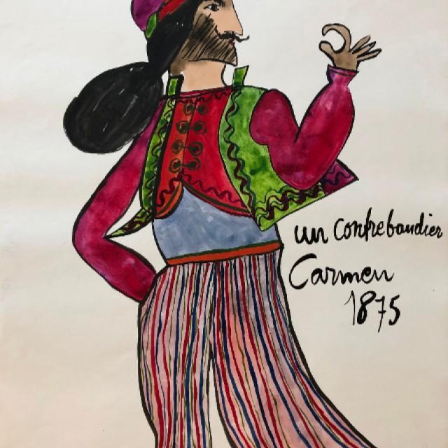 Un Contrabandier, Carmen 1875