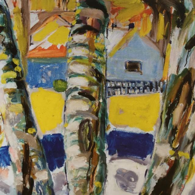 Birch Trees at Edvard Munch Studio