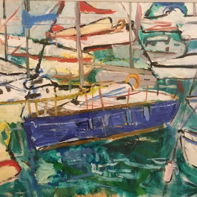 Blue Boats in Rio