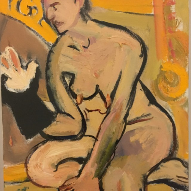 Nude with Rabbit in the Hat