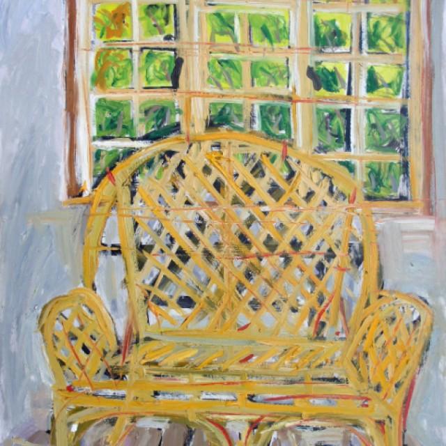 Yellow Wicker Chair, Ardamine
