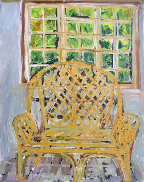 Yellow Wicker Chair, Ardamine