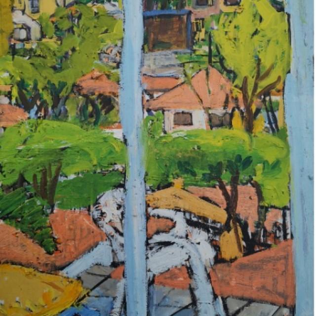 Sao Paolo, view from my studio, Rua Sao Gall