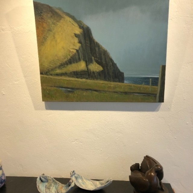 Kame of Hoy in situ with Anne Morrison ceramics