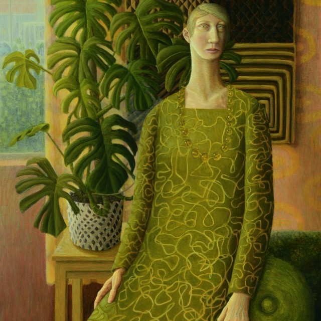 Woman with Textile