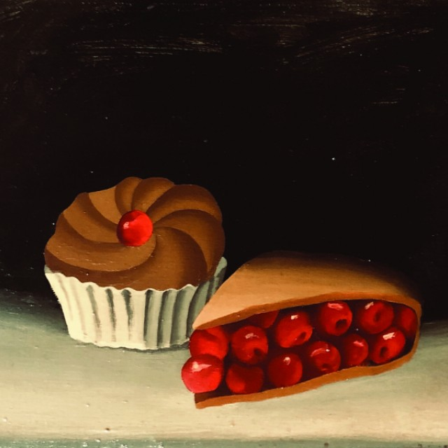 Two kinds of cherry cake