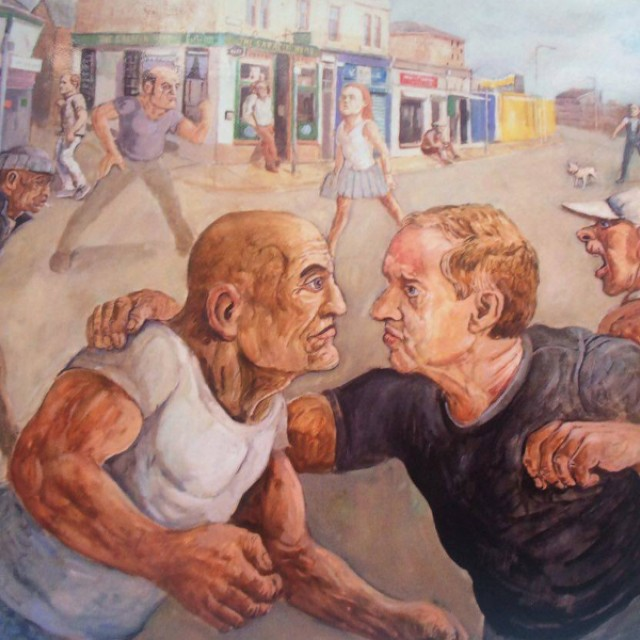 Peter Howson faces one of his people