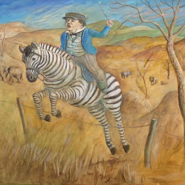 Timmy on the Zebra