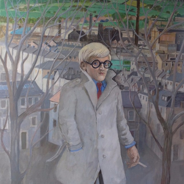 Young Hockney in Bradford