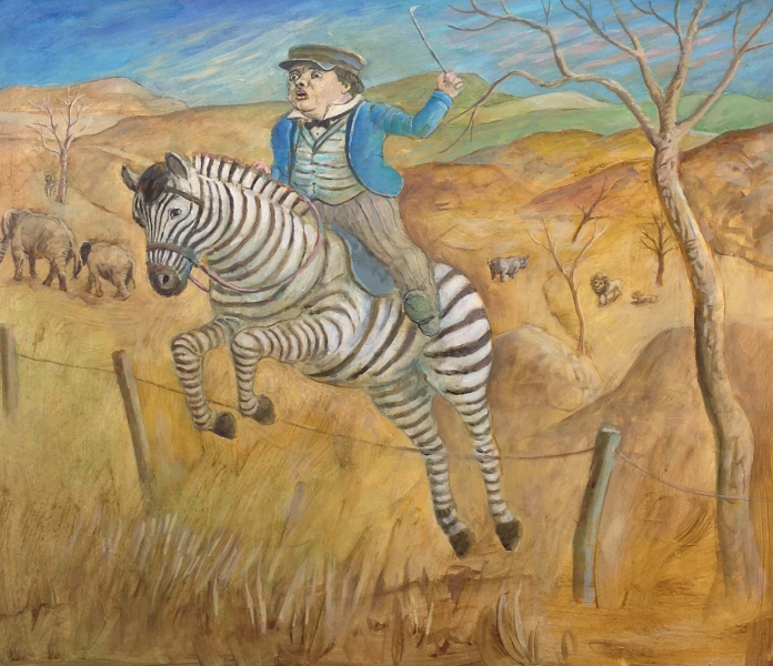 Timmy on the Zebra