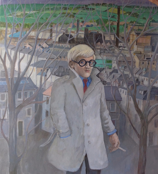 Young Hockney in Bradford