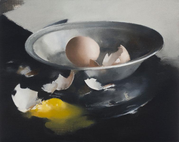 Silver Bowl & Broken Eggs