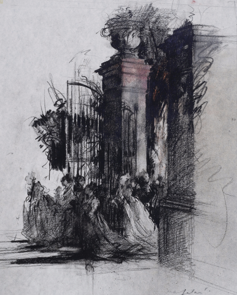 The Gate, Preparatory drawing for Swan Lake