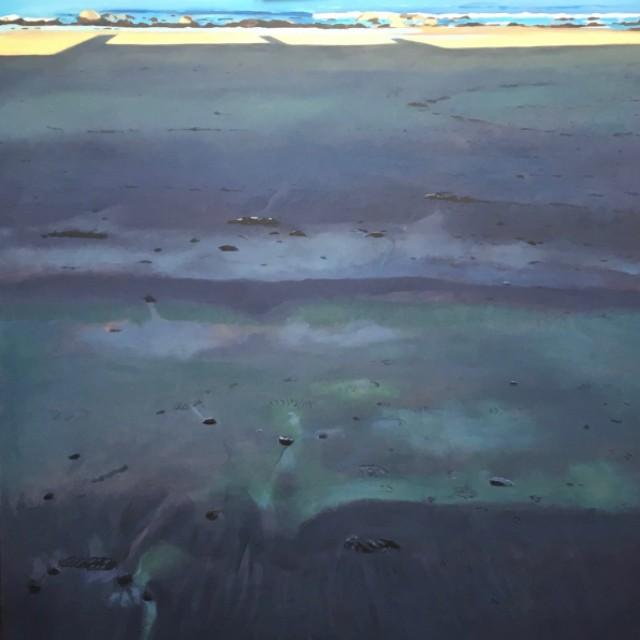 Beach, black and blue