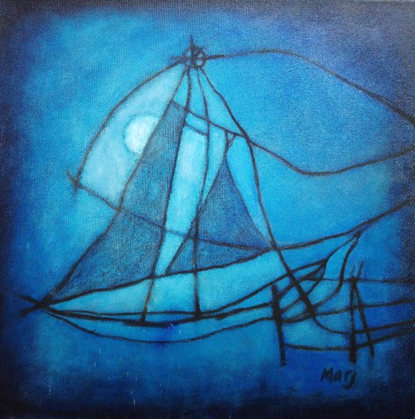 Blue Chinese Fishtrap