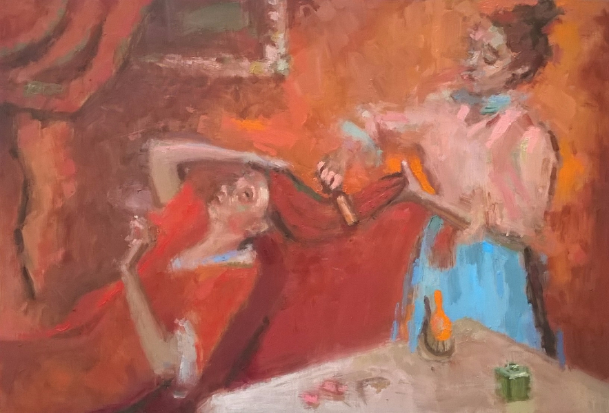 Combing the Hair (after Degas)