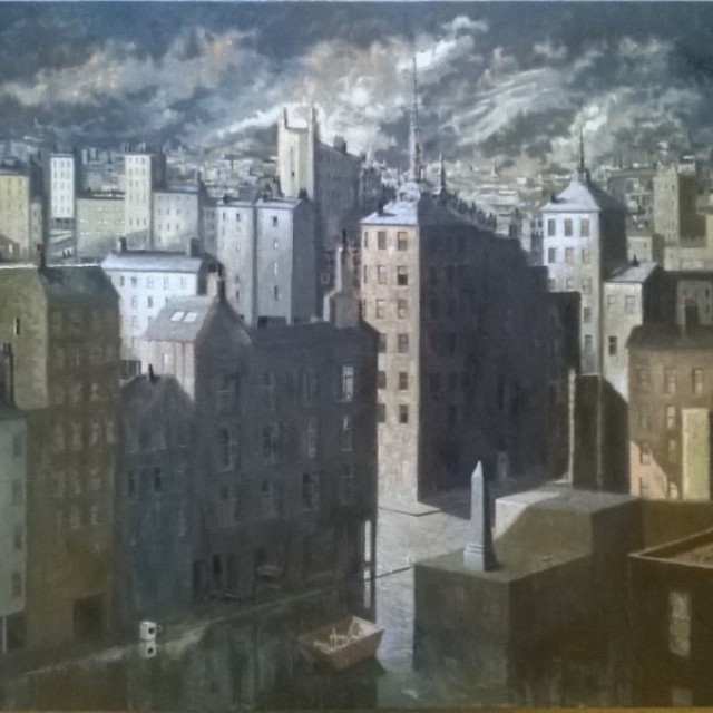 After Frans Masreel: A Northern European City (sold)