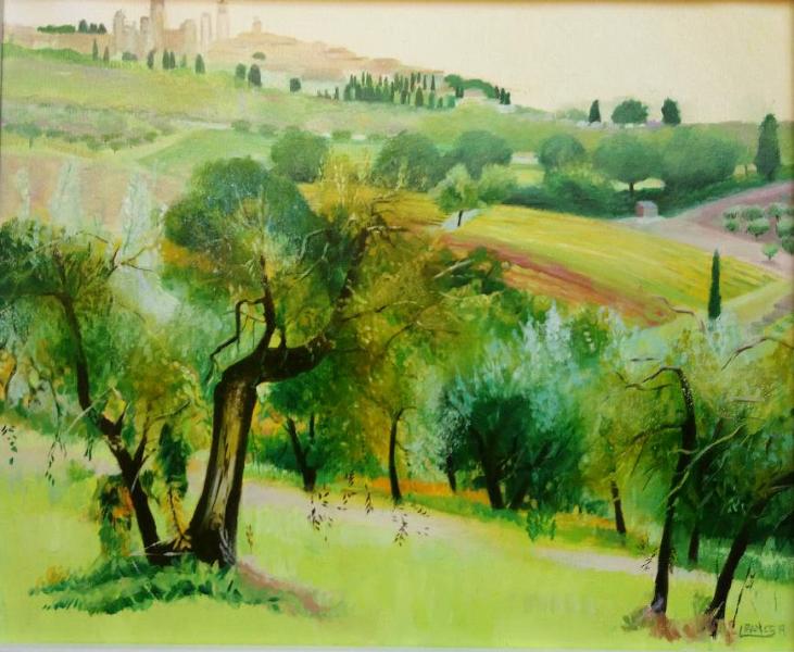 Towards San Gimignano