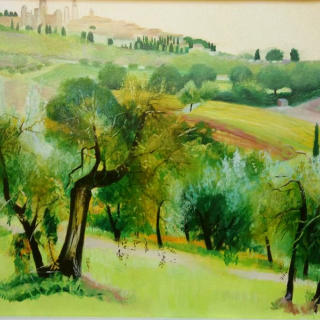 Towards San Gimignano