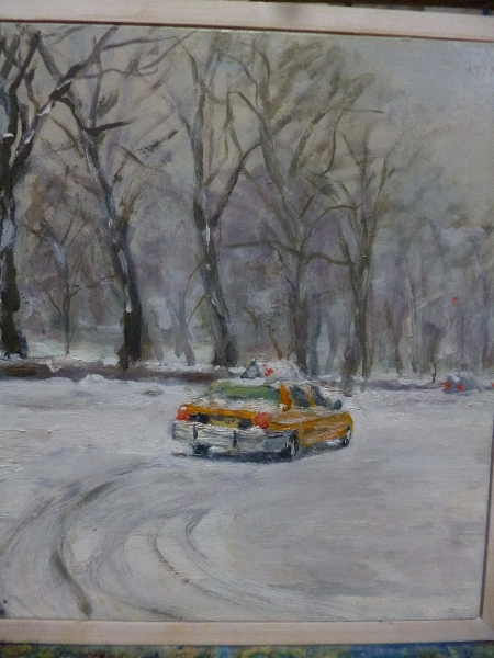 Yellow Cab in the Snow
