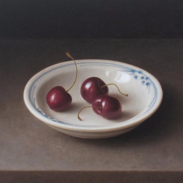 Dish with Black Cherries
