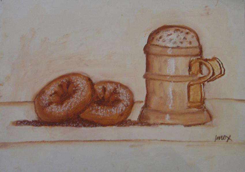 Doughnuts with sugar sifter