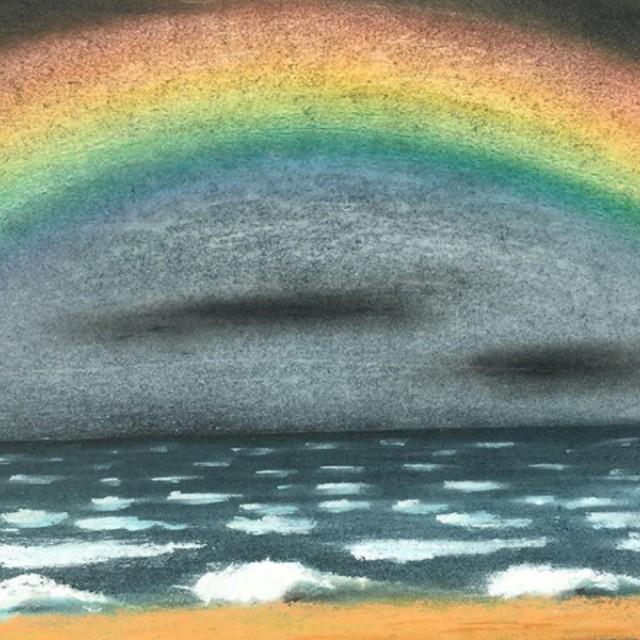 Rainbow over breakers