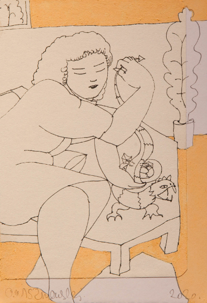 Woman with Lizard