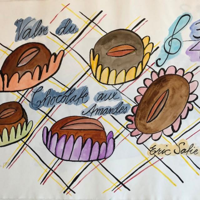 Valse du chocolate aux amandes