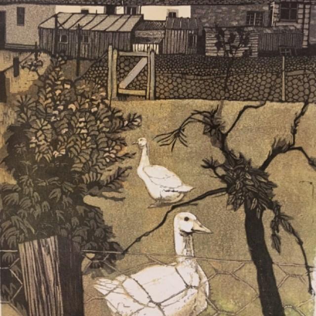 Back Garden Geese (sold)