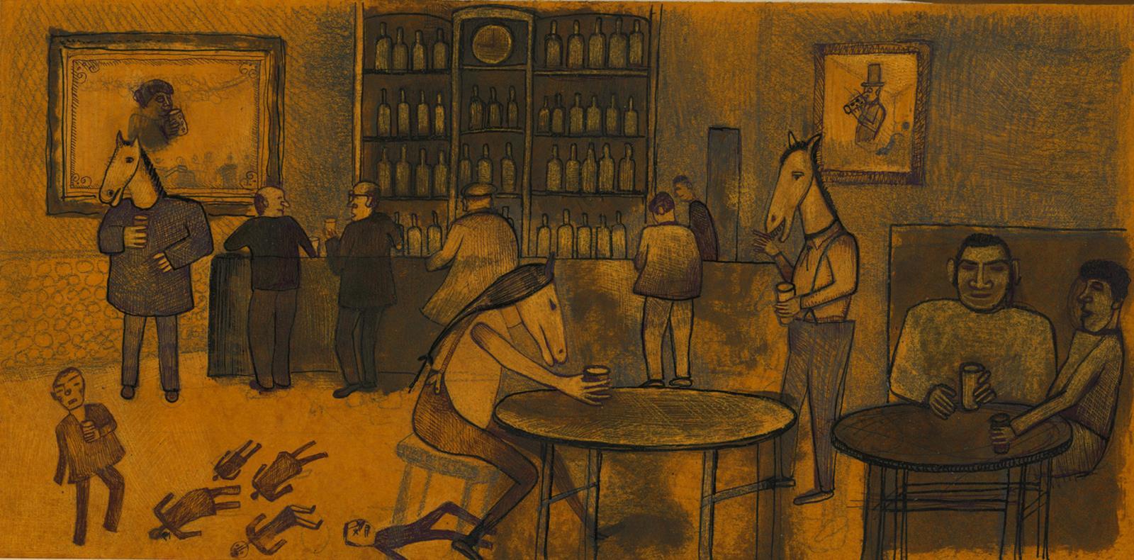 Horse in Pub