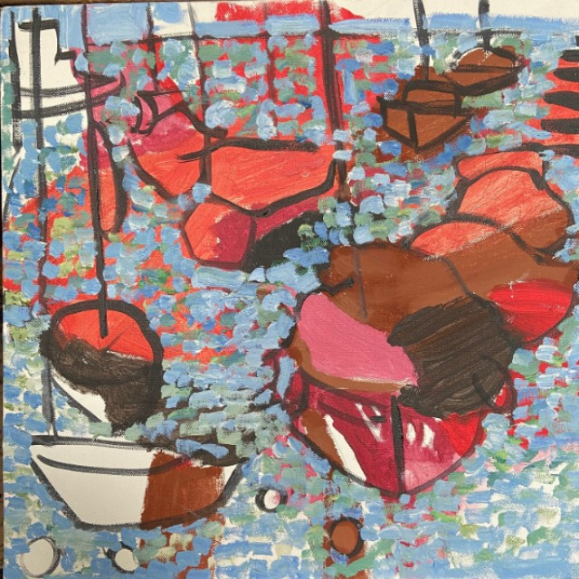 Red boats, Ardamine, 2011