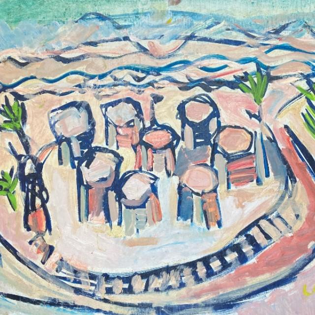 Sandcastles on the beach, Ardamine, 1988
