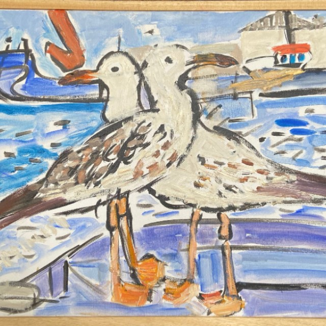 Two seagulls, Arklow, 2011