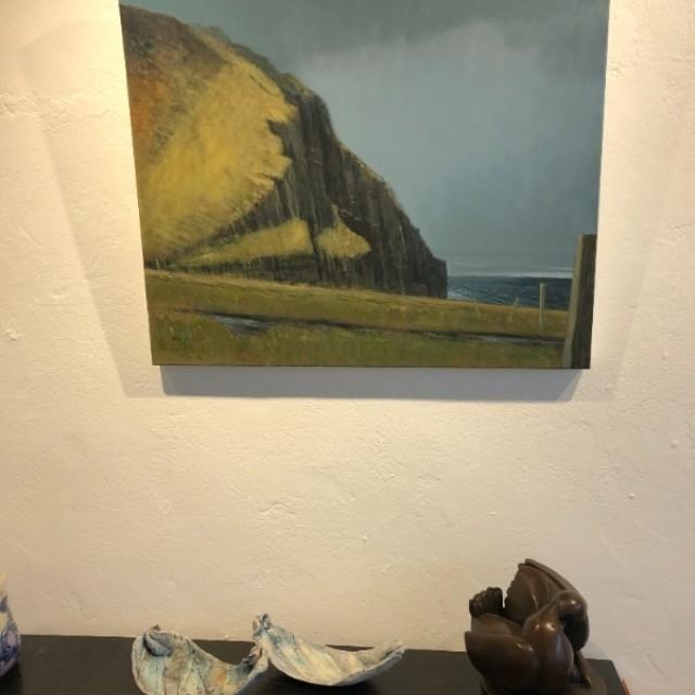 Kame of Hoy in situ with Anne Morrison ceramics