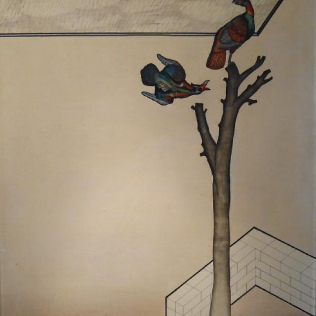 Two exotic birds, c 1960s