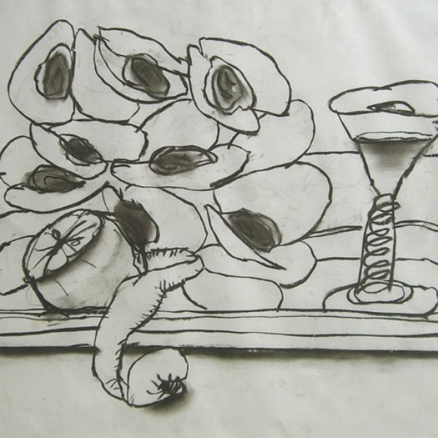 Mussels on a tray, 1982