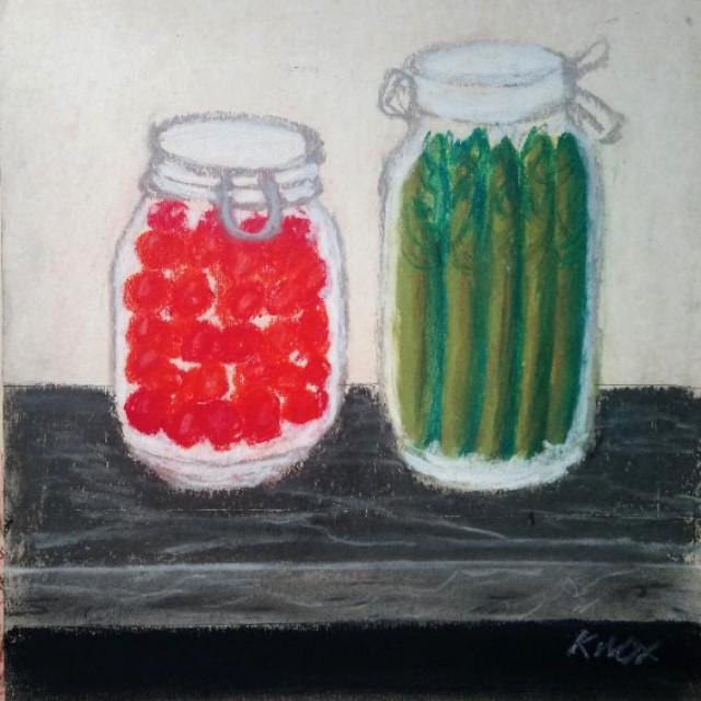 Preserved Cherries Asparagus