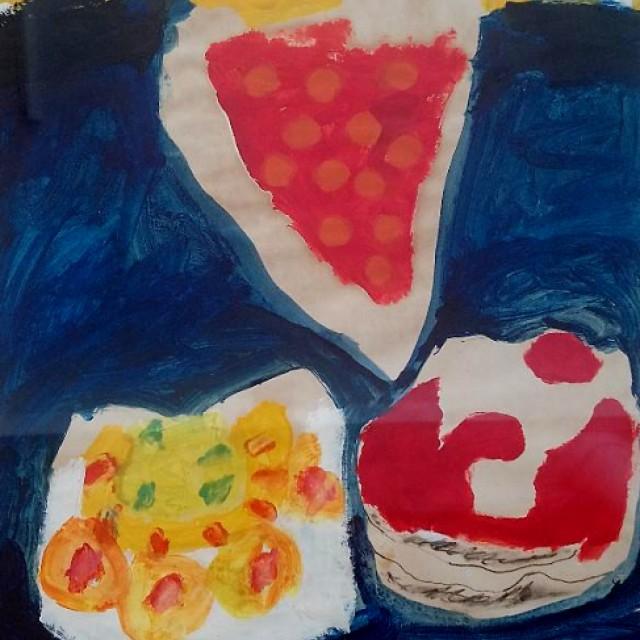 Cherry Flan, Gateau & Cream Bun, 1966