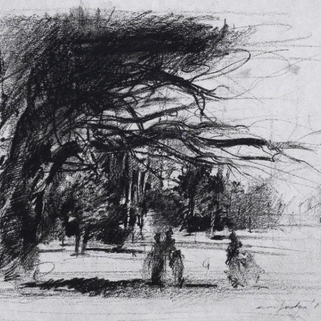 The Park, Preparatory drawing for Swan Lake