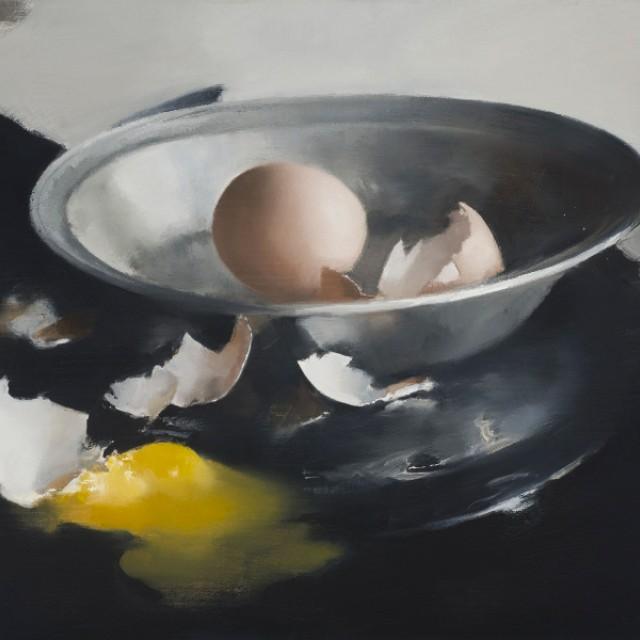 Silver Bowl and Broken Eggs