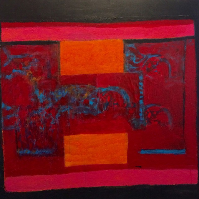 Orange, Blue, Red Dragon Collage